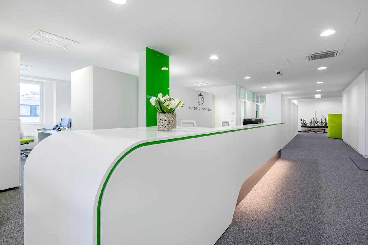 Büro Empfang - Corona Rechtsanwalt Linz Österreich • Waitz Rechtsanwälte GmbH